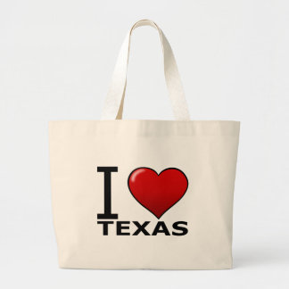 I LOVE TEXAS LARGE TOTE BAG