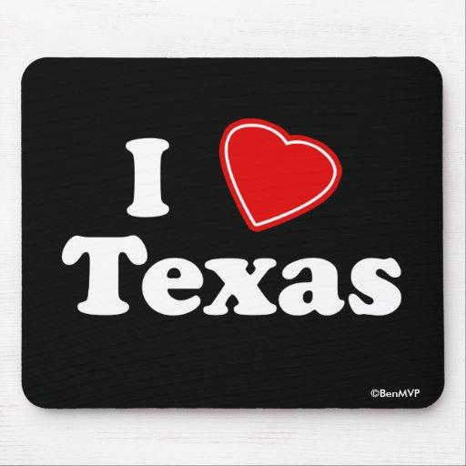 I Love Texas Mouse Pad