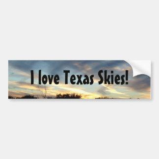 I love Texas Skies bumper sticker