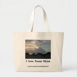 I love Texas Skies! Jumbo Tote Bag