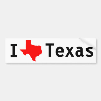 I Love(Texas) Texas Bumper Sticker