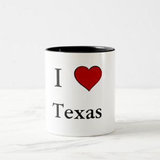 I Love Texas - Two-Tone Mug