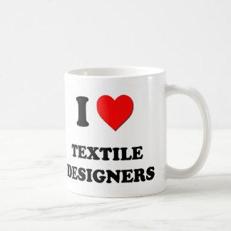 I Love Textile Designers Basic White Mug