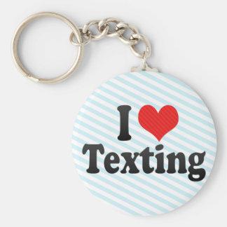 I Love Texting Basic Round Button Key Ring