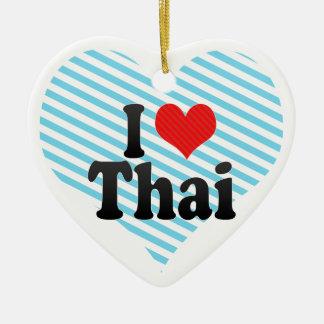 I Love Thai Ceramic Ornament