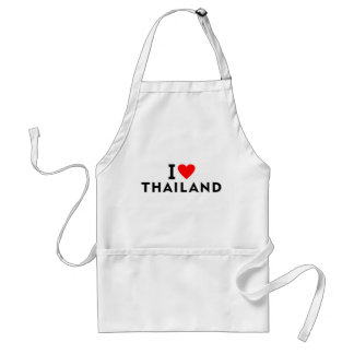 I love Thailand country like heart travel tourism Standard Apron