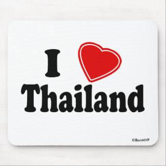 I Love Thailand Mouse Pads