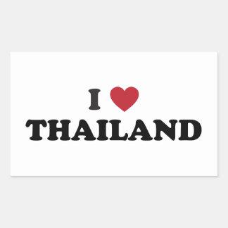 I Love Thailand Rectangular Sticker
