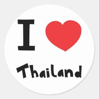 I love Thailand Round Sticker