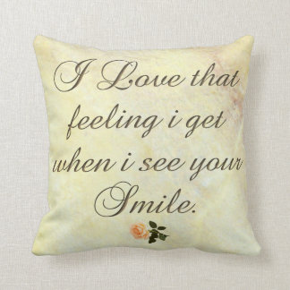 I Love that Smile &-a-Ros Polyester Throw Pillow Throw Cushions