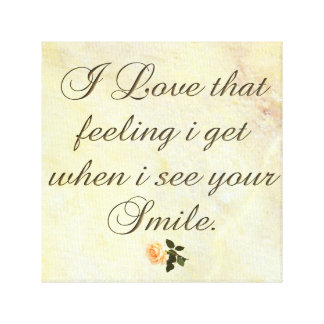 I-Love that Smile-&-Rose Canvas Prints Single