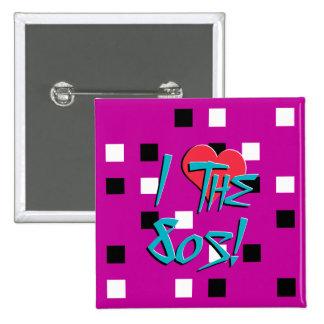 I Love The 80s! 15 Cm Square Badge