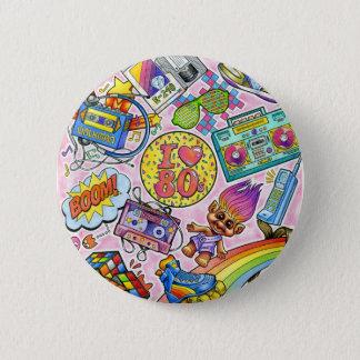 I love the 80s - 1980s Swag 6 Cm Round Badge