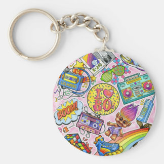 I love the 80s - 1980s Swag Key Ring