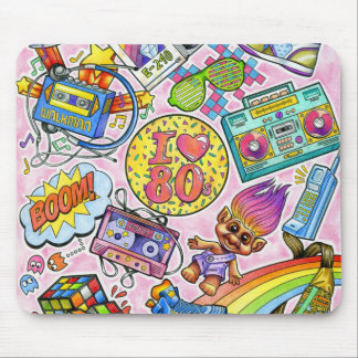 I love the 80s - 1980s Swag Mouse Pad