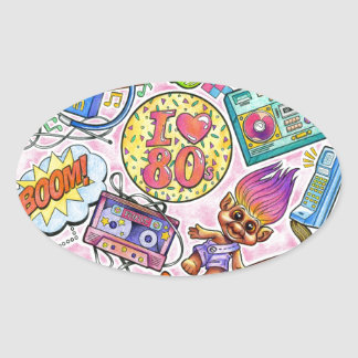 I love the 80s - 1980s Swag Oval Sticker