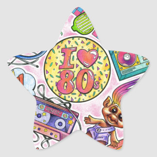 I love the 80s - 1980s Swag Star Sticker