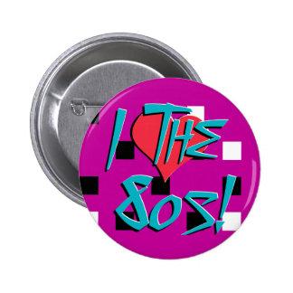 I Love The 80s! 6 Cm Round Badge