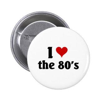 I love the 80's 6 cm round badge