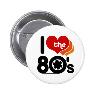 I Love the 80's Pins