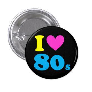 I Love The 80s 3 Cm Round Badge