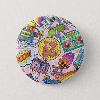 I love the 80s Button! 6 Cm Round Badge