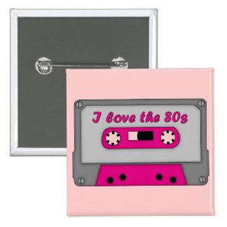 I Love The 80s (cassette) 15 Cm Square Badge