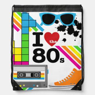 I Love the 80s Drawstring Backpack Bag