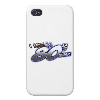 I Love the 80s Eighties MUSIC 1980s music fan Cover For iPhone 4