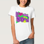 I Love the 80's Geometric Neon Eighties Party T Shirt