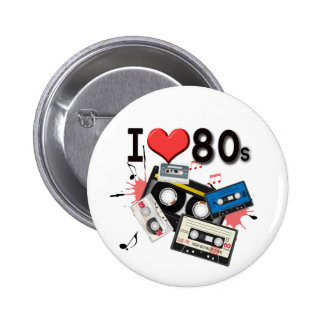I love the 80s multiple products selected 6 cm round badge