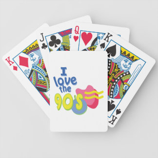I Love the 90s Bicycle Playing Cards