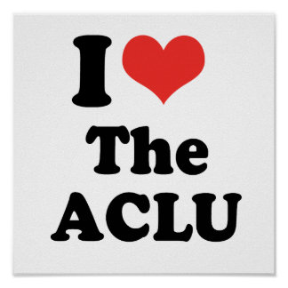 I LOVE THE ACLU - .png Print