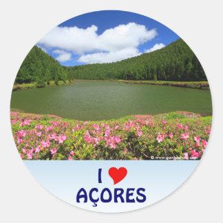 I Love the Açores Round Sticker