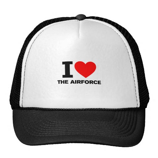 I Love the Airforce Mesh Hats