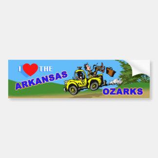 I Love the Arkansas Ozarks bumper sticker