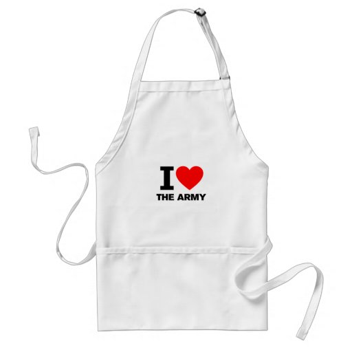 I Love the Army Aprons
