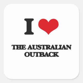 I love The Australian Outback Square Sticker