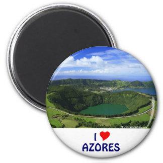 I Love the Azores 6 Cm Round Magnet