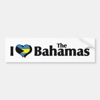 I Love The Bahamas Flag Bumper Sticker