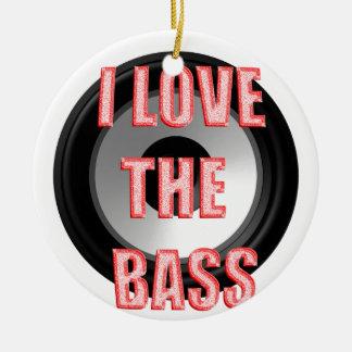 I Love The Bass Ceramic Ornament