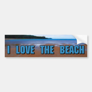 I Love The Beach Bumper Sticker