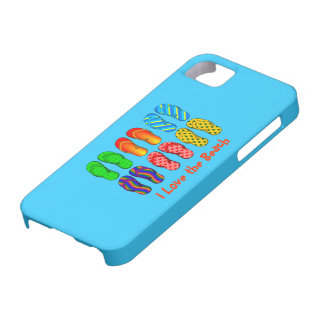 I Love the Beach - Colorful Flip Flops iPhone 5 Covers