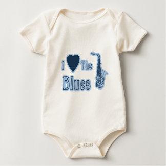 I Love The Blues Baby Bodysuit