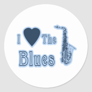 I Love The Blues Classic Round Sticker