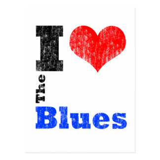 I Love The Blues Postcard
