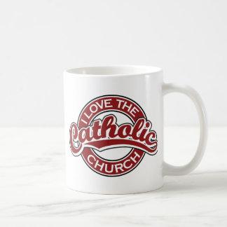 I love the Catholic Church in Red Coffee Mug