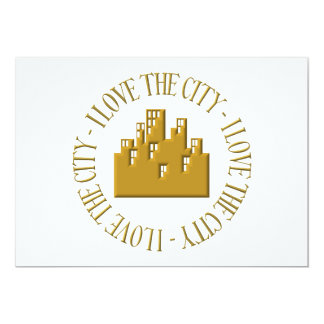 I love the city 13 cm x 18 cm invitation card