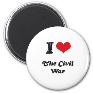 I love The Civil War 6 Cm Round Magnet