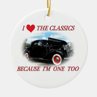 I Love The Classics 2 Ceramic Ornament